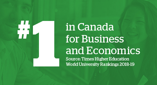 #1 in Canada for Business and Economics