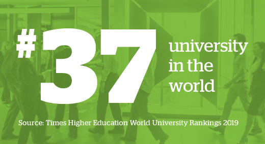 #34 university in the world. Times Higher Education 2016