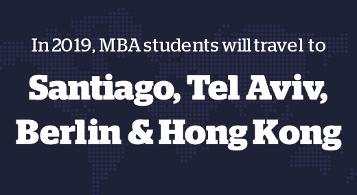 In 2017, MBA students will travel to Germany, Chile, Chile & Kenya